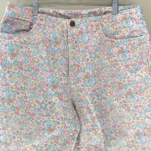 🌿Talbots High Rise Floral Ankle Pant
